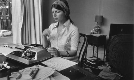 Margaret Drabble in her study in 1974.
