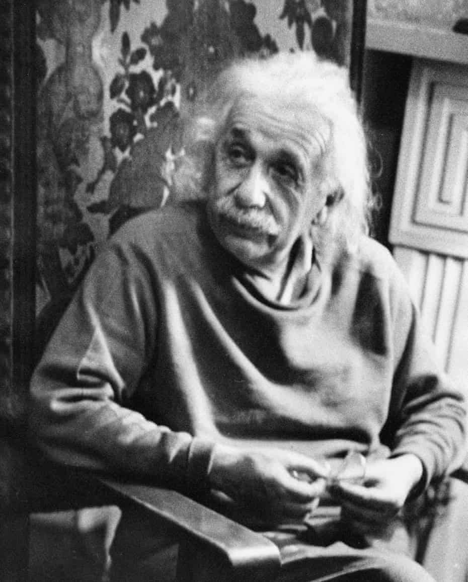 'It was my first ever photograph' … Albert Einstein at home in New Jersey in 1948.