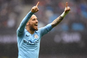 And celebrates scoring City's fourth.