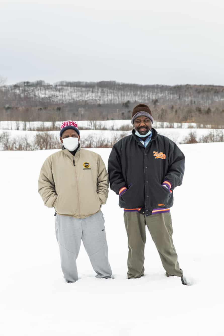 Farmers Ali Hamse, right, and Mohammed Mohammed, left, are also board members of the Somali Bantu Community Foundation.