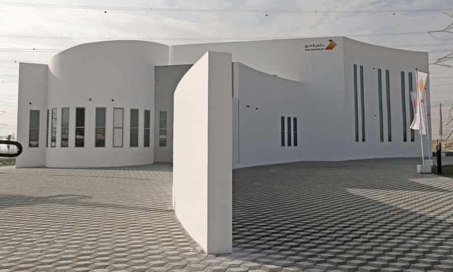 A 3D-printed building in Dubai.