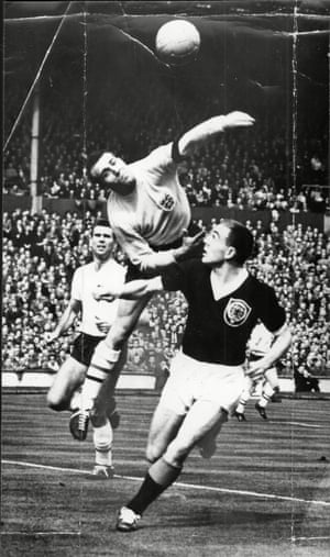 Ron Springett of England Saves From Ian St John Of Scotland in a 2-2 draw at Wembley in 1965.