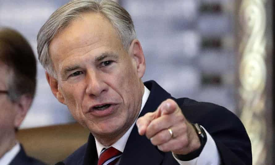 The Texas governor, Greg Abbott.
