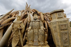 More ivory statues