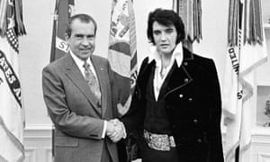 Nixon meets Presley at the White House.