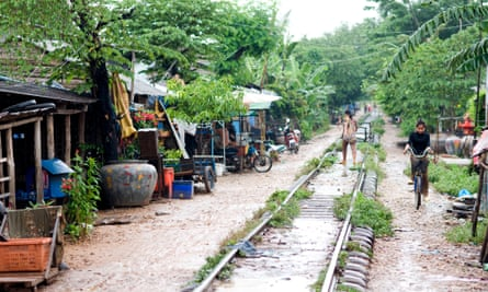 Train line at Sisophon, Cambodia