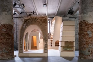 ReCasting, 2018 … a clever plywood cloister by Alison Brooks.