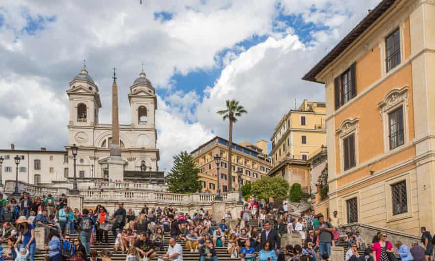 The Spanish Steps, one of Rome's many renowned tourist destinations.