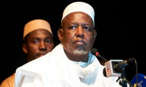Imam Mahmoud Dicko at launch of his movement, the Coordination of movements, associations and sympathisers last September.