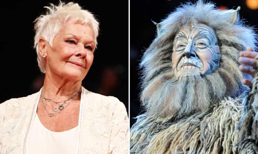 Judi Dench and Deuteronomy the ancient cat from the musical Cats.