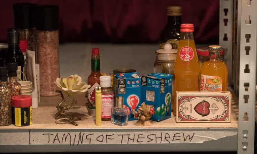 """The """"cast"""" of household objects used in Forced Entertainment's version of The Taming of the Shrew"""