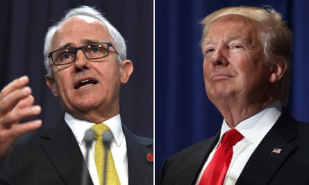 A composite picture of Malcolm Turnbull and Donald Trump