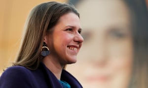Jo Swinson on a campaign visit to Glasgow