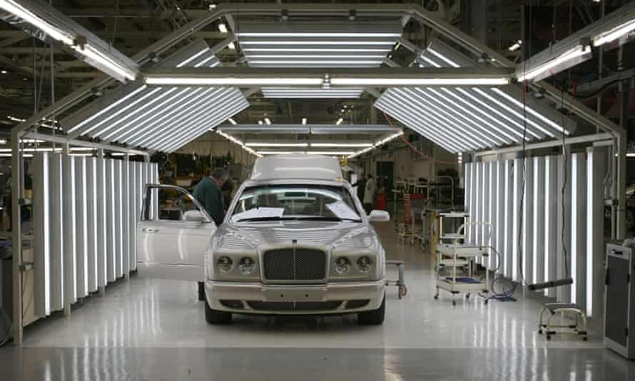 Bentley bumpers travel across Europe before finally being fitted at the company's Crewe plant.