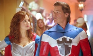 Preston with Kurt Russell in Sky High in 2005.