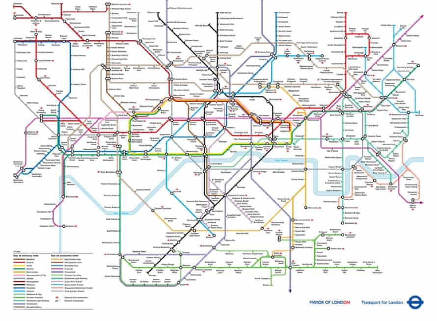 Imagining the future of the Tube in 2004. 12 years ago, TfL created a map of what the transport network would look like in 2016, based on the proposed developments in the pipeline. The plan looks relatively the same as the real thing today, with the major difference being the presence of the Crossrail route, which has faced several delays in the 12 years since this map was published.