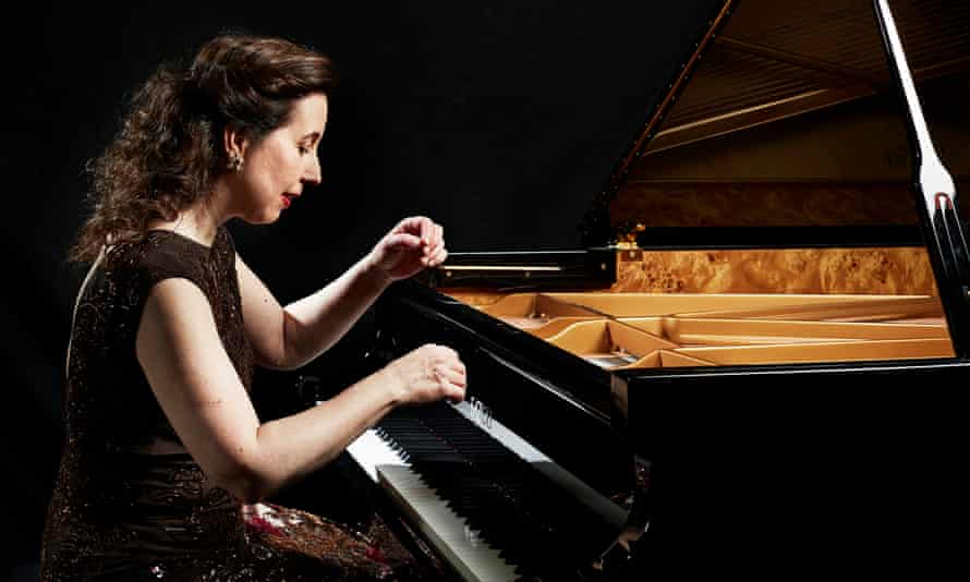 The classical pianist Angela Hewitt.