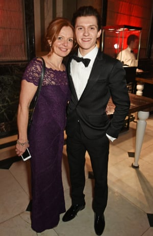 Tom Holland took his mother Nicola Elizabeth Frost the after party