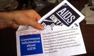 1980s leaflet sent to public about Aids