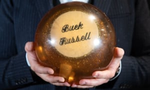 The bowling ball used by John Candy who starred as Buck Russell in the 1989 film Uncle Buck. It is estimated it will fetch £5,000-£7,000 in the annual Prop Store entertainment memorabilia live auction in early December