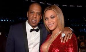 Jay-Z and Beyoncé at the 2017 Grammy awards.