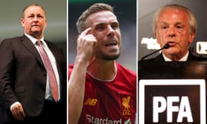 Mike Ashley; Jordan Henderson; Gordon Taylor.
