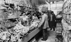A grocer's shop in Brick Lane, East London, 5 June 1978.