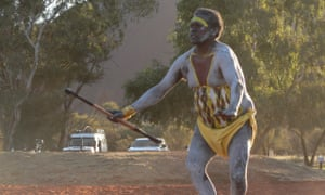 Gumatj dancers from East Arnhem Land perform at the opening ceremony of last week's national convention on constitutional recognition in Mutitjulu, near Uluru.