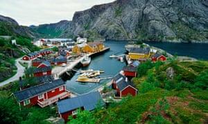 Fishing village Nusfjord, Lofoten islands.