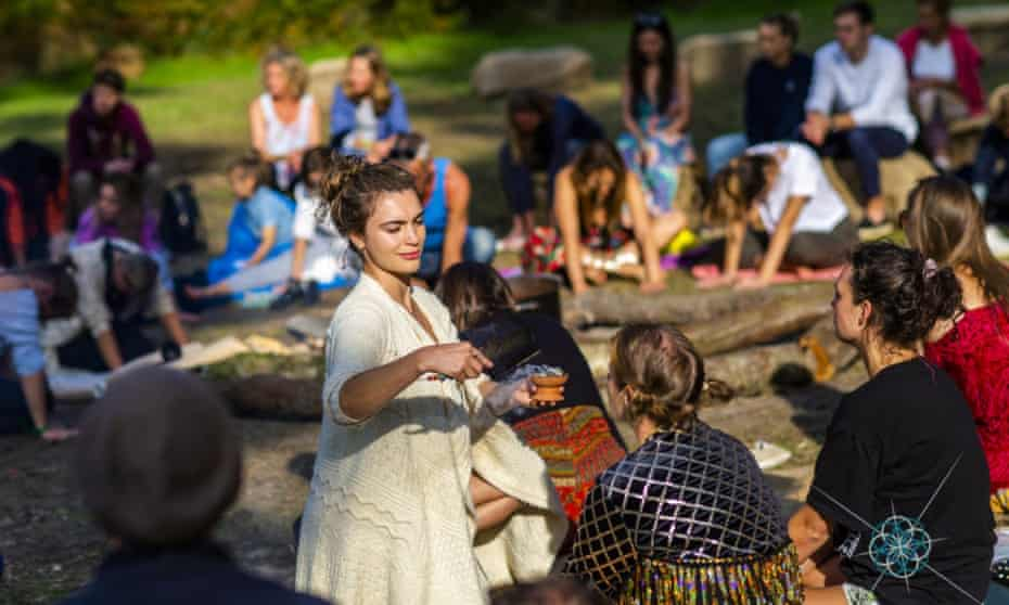 A 'cocoa ceremony' at Wonderment.