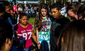 Students at the Marjory Stoneman Douglas high school.