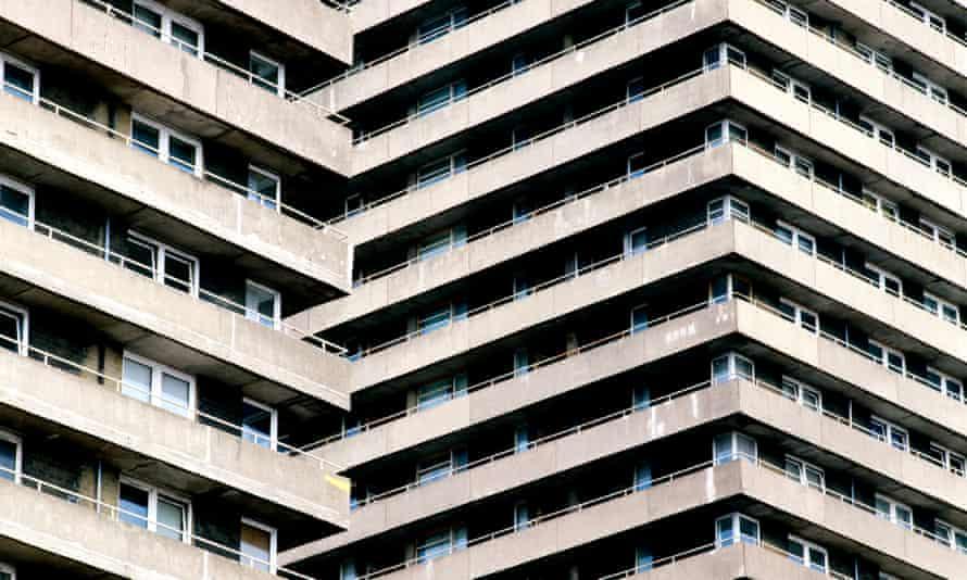 A high rise council housing estate, Glasgow.