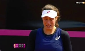 Johanna Konta was reduced to tears after being verbally abused by the Romania captain Ilie Nastase.