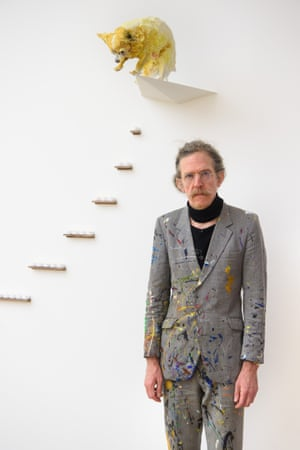 Martin Creed pictured next to Work No 2441, Jimmy.