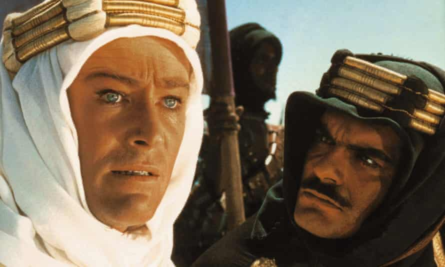Peter O'Toole and Omar Sharif in David Lean's Lawrence of Arabia, 1962. Coates turned down Stanley Kubrick's Lolita in order to work with Lean.