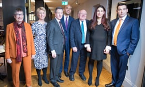 Labour MPs Ann Coffey, Angela Smith, Chris Leslie, Chuka Umunna, Mike Gapes, Luciana Berger and Gavin Shuker after they announced their resignations.