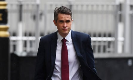 Gavin Williamson, Secretary of State for Education, arriving at the Department of Education.