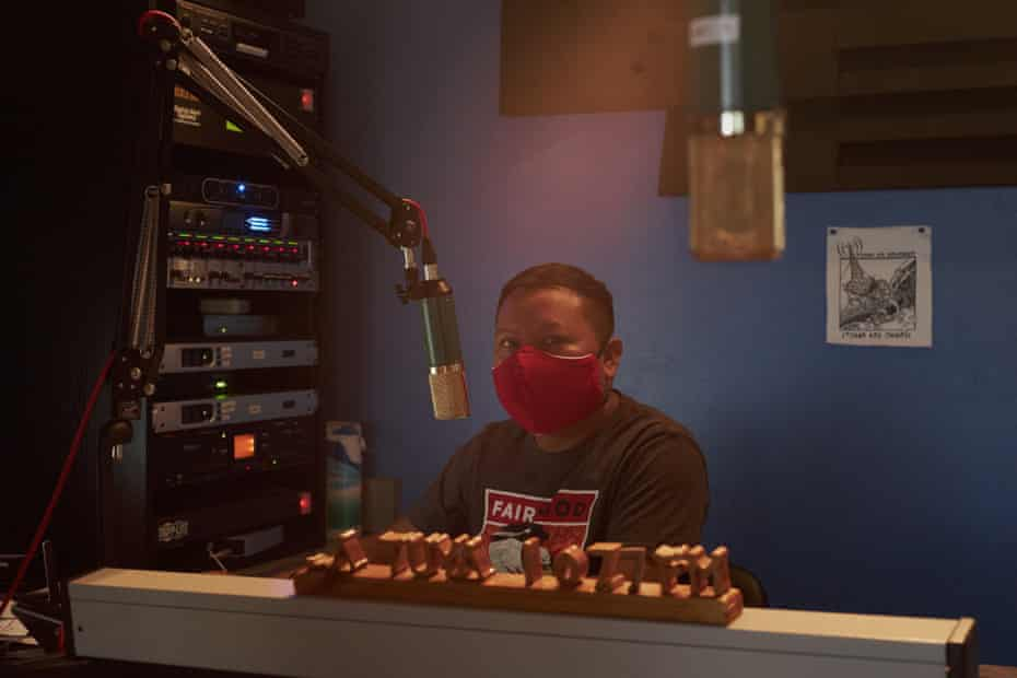 Oscar Oztoy, a former farmworker, hosts a radio show that educates the residents of Immokalee about workers' rights and, more recently, about how to stem the spread of the coronavirus.