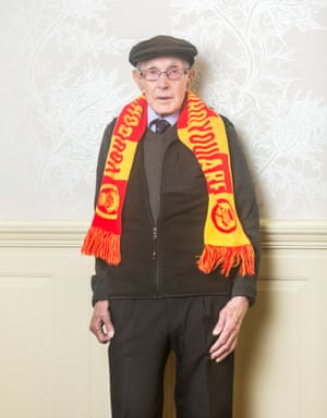 Partick Thistle football fan Harry Bingo, aged 93