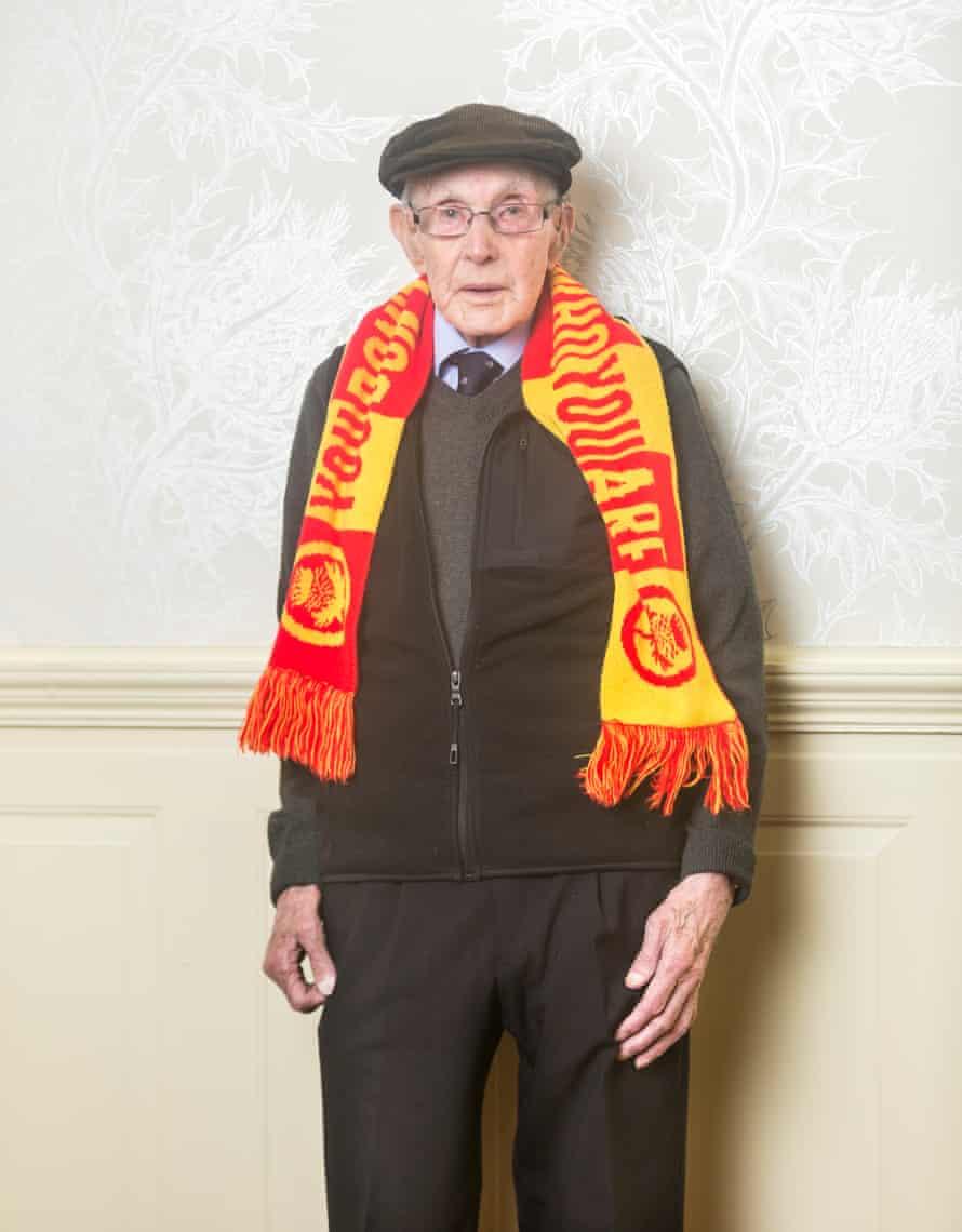 Partick Thistle football fan Harry Bingo, aged 93