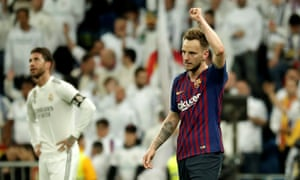 4642d7ff2 Ivan Rakitic of Barcelona celebrates his goal against Real Madrid.