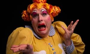 'Will families return next year?' … TaleGate's James Worthington as a panto dame.