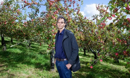 Gabriel David, apple grower and founder of Luscombe Drinks, in his Devon orchard.