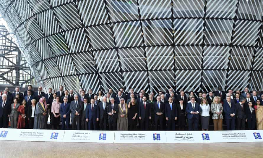 Participants in the UN-EU pledging conference in Brussels