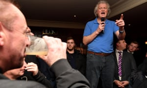 Wetherspoon's Tim Martin on his nationwide Brexit pub tour, visits Weymouth, Dorset earlier this year.