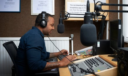 Kedia, who presents the gospel show as well as a reggae and soca programme called Bob and Beyond, records his broadcast in the Brixton studio.