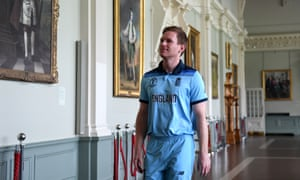 England's captain, Eoin Morgan, walks through the Long Room on his way to the nets at Lord's.