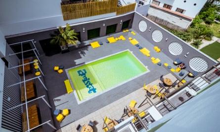 Outdoor pool at Amistat Island Hostels, Ibiza