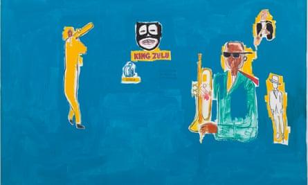 King Zulu by Jean Michel-Basquiat