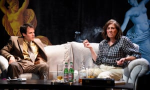 Pleasantly gripping … Calum Finlay and Phyllis Logan in Switzerland.